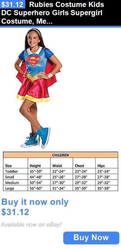 Kids Costumes: Rubies Costume Kids Dc Superhero Girls Supergirl Costume, Medium BUY IT NOW ONLY: $31.12