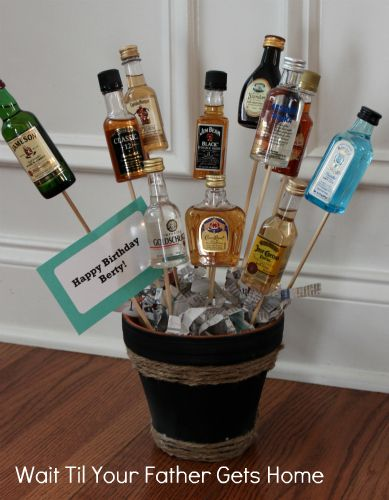 {man bouquet}.....I want the one of these for my bday for a woman (although I would drink these too) :D