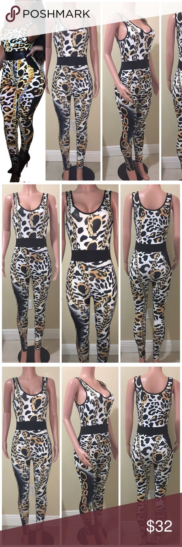 Animal print jumpsuit Animal print jumpsuit.   Size Small Pants Jumpsuits & Rompers