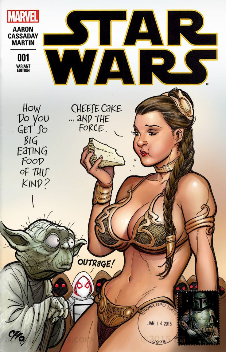 Star Wars - Slave Leia and Yoda by Frank Cho, colours by Nathan Szerdy *
