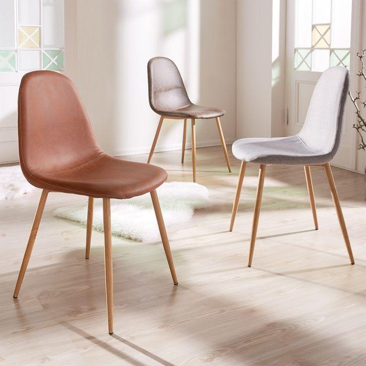 Sedia Ajstrup (cognac, finta pelle) - Sedie - Mobili per la sala da pranzo & cucina - Mobili - JYSK