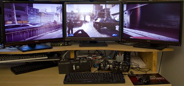 Triple-screen gaming on today's graphics cards - The Tech Report - Page 1