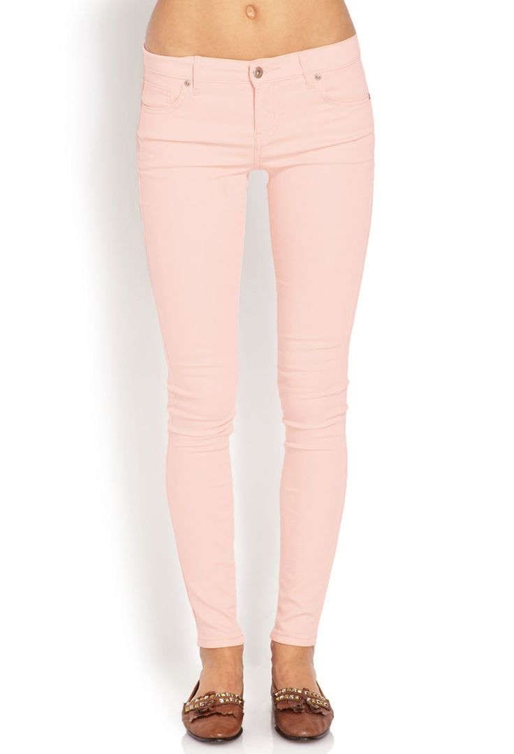 Sugartooth Skinny Jeans | FOREVER21 #Denim #Skinnies #F21Spring  Love this colour !
