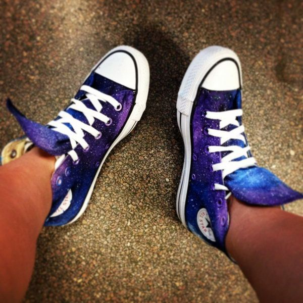 Galaxy Painted Converse. Video tutorial