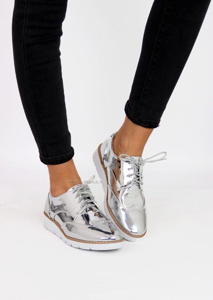 c7c47240c97eb Derbies argentés | Bottes en 2019 | Derbies argentées, Chaussures 2017 et  Tendance chaussures 2017