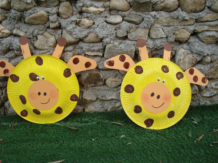 Κατασκευή από χάρτινο πιάτο- Η καμηλοπάρδαλη # giraffe paper plate craft