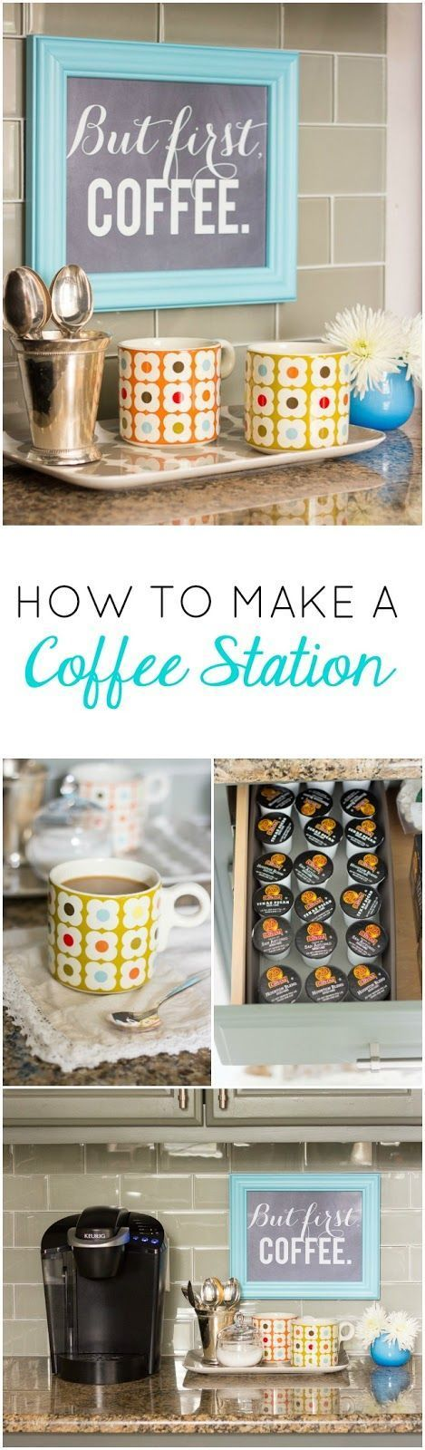 DIY Coffee Station | Design Improvised                                                                                                                                                                                 More