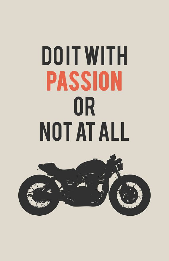 Triumph Bonneville Poster  Do it With Passion 2 11x17 by InkedIron, $10.00