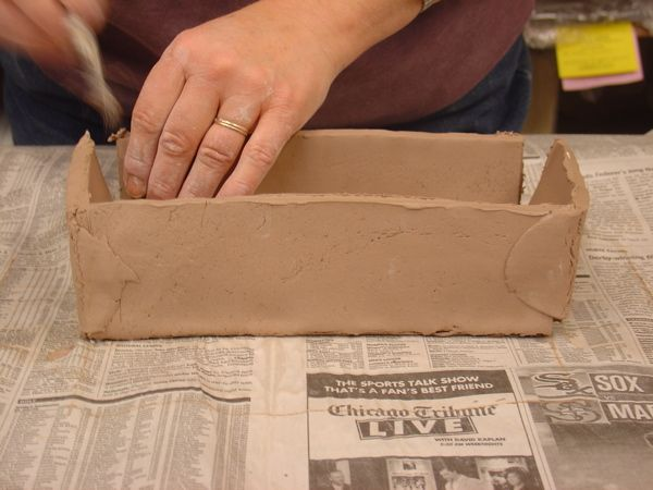 Templates Pottery Butter Dish Slab