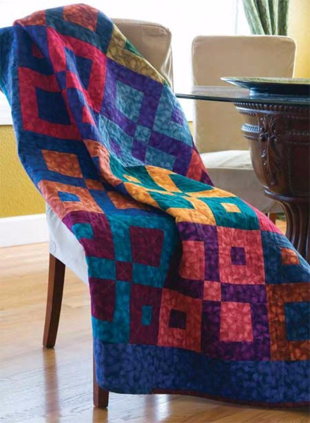 Best Quilts to Make This Weekend – Square Dancing Lap Quilt – Free Quilt Pattern…