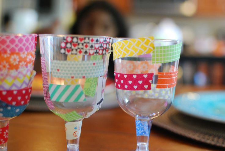 washi tape glasses