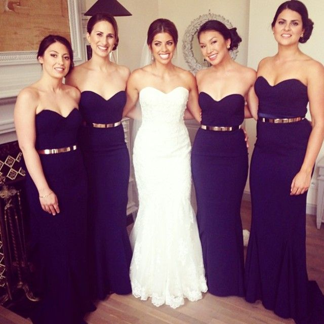 Bridesmaid Dresses Purple And Gold