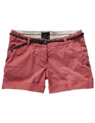 Maison Scotch Damen Short 12210381878 - chino shorts w/belt and badges