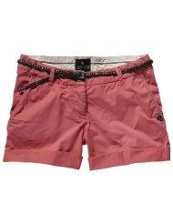 Maison Scotch Damen Short 12210381878 - chino shorts w/belt and badges