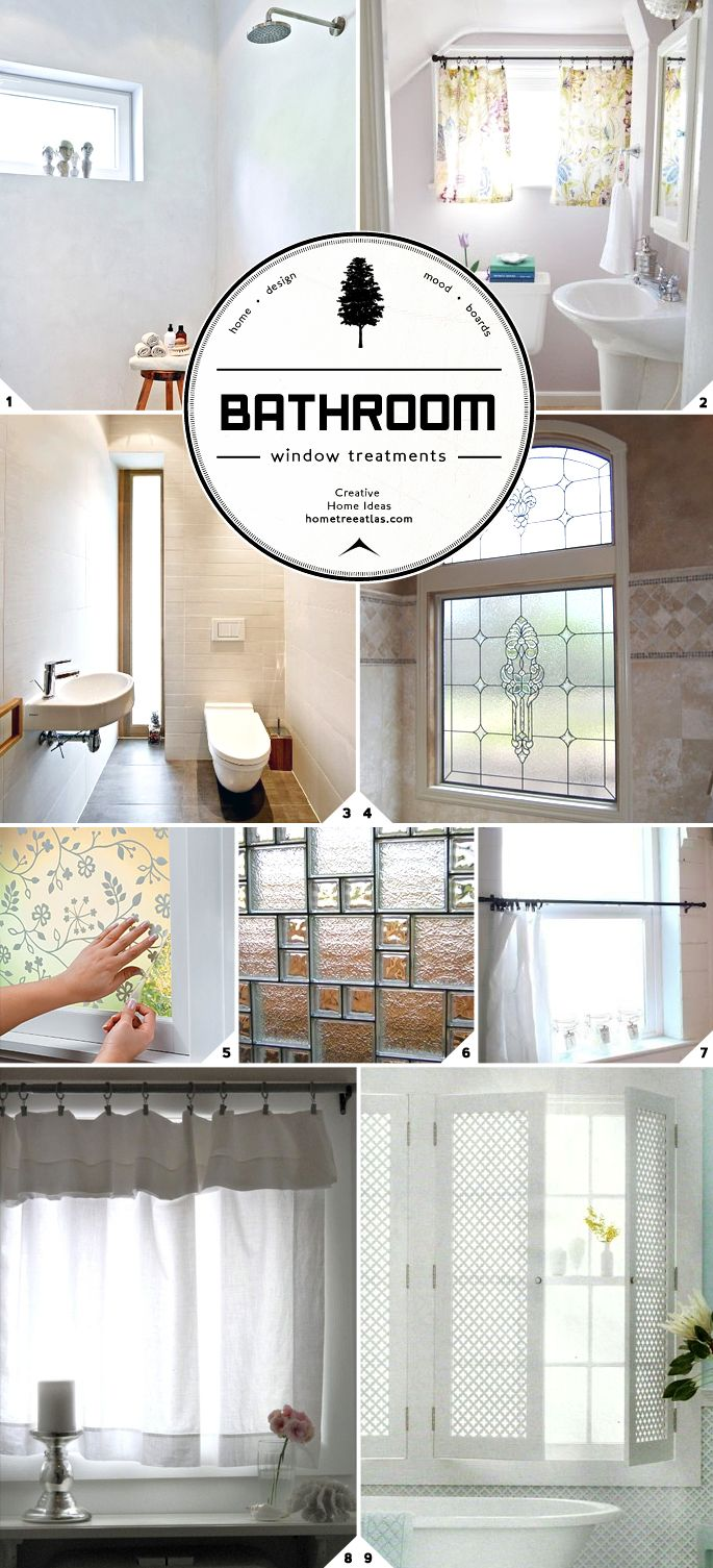 9 best images about small bathrooms on pinterest walk in closet window treatments and master for Bathroom window treatments ideas
