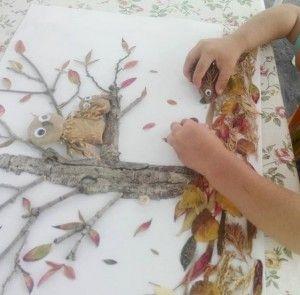 okul_öncesi_sonbahar_kolaj_çalışması