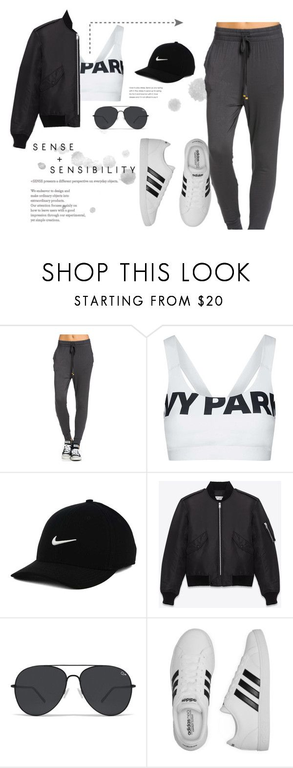 """Just Do It"" by myyuccie on Polyvore featuring Topshop, NIKE, Yves Saint Laurent and adidas"