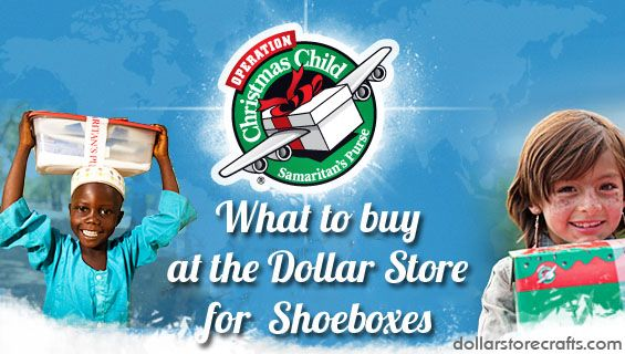 Operation Christmas Child: what to buy at the dollar store for shoeboxes #OCCgiving