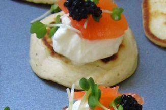 Lemony Elderflower Salmon Oatinis with Kelp Caviar Recipe on Food52 recipe on Food52