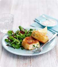 Crispy cod and prawn fishcakes