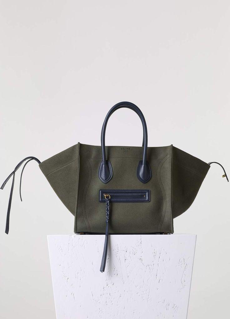 - Sac Luggage Phantom Moyen Modèle en Textile   CÉLINE