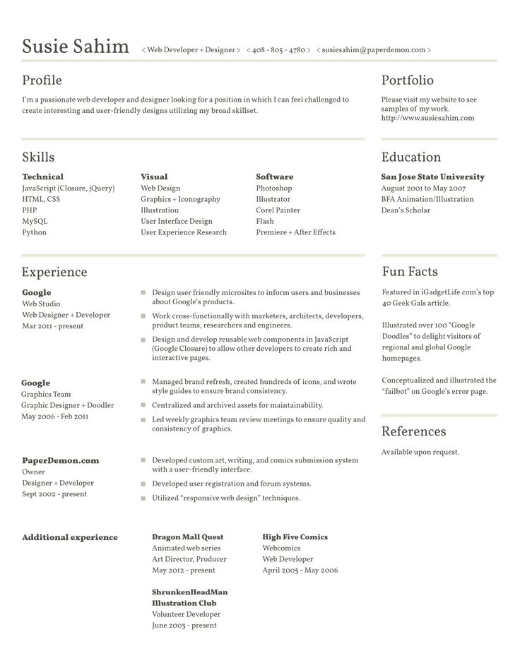 80 best Resume / CV images on Pinterest | Curriculum, Resume and ...
