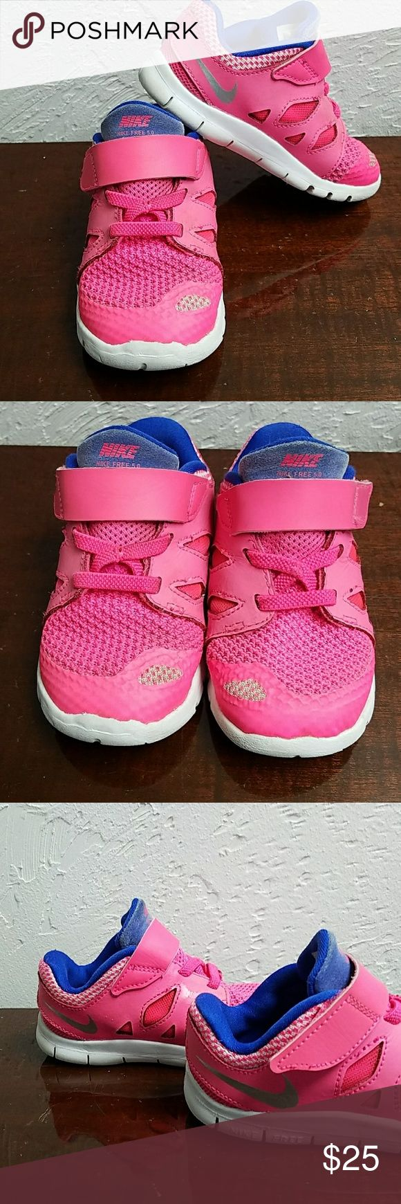 Nike Free 5.0 pink toddler shoes size 7 Great used condition! Nike Shoes Sneakers