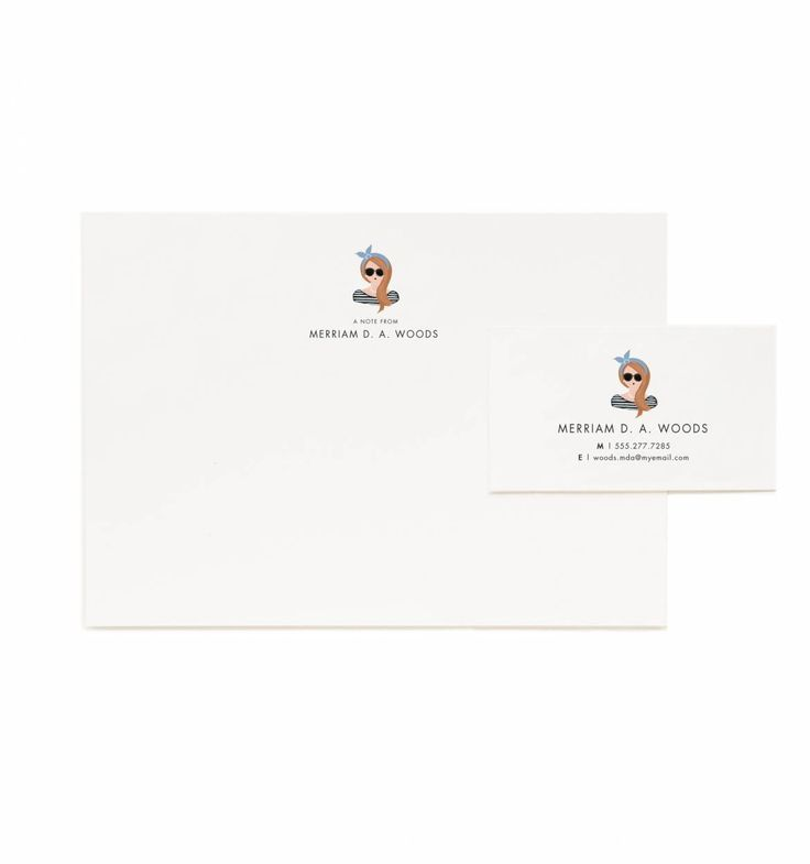 Portrait Personalized Flat Notes & Calling Cards