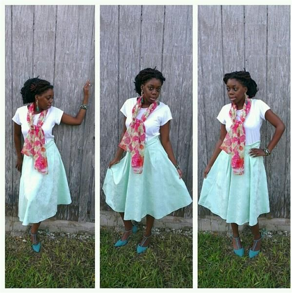 DIY skirt and scarf by  Olivia Russell
