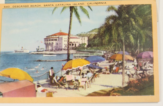 Two Vintage California coastline postcards by kareneileen on Etsy, $16.00