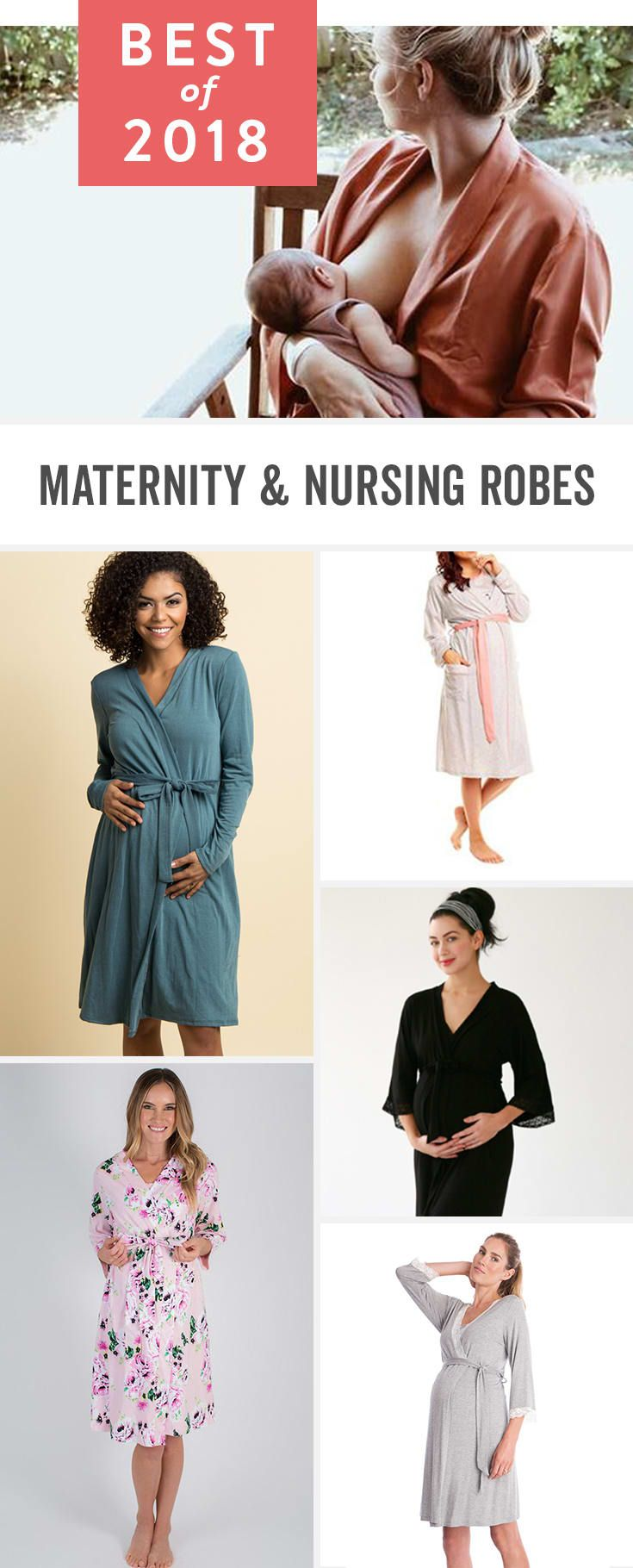 d8f0381905 These are the best maternity and nursing robes that make perfect delivery  gowns for labor and beyond that work night and day. Floral