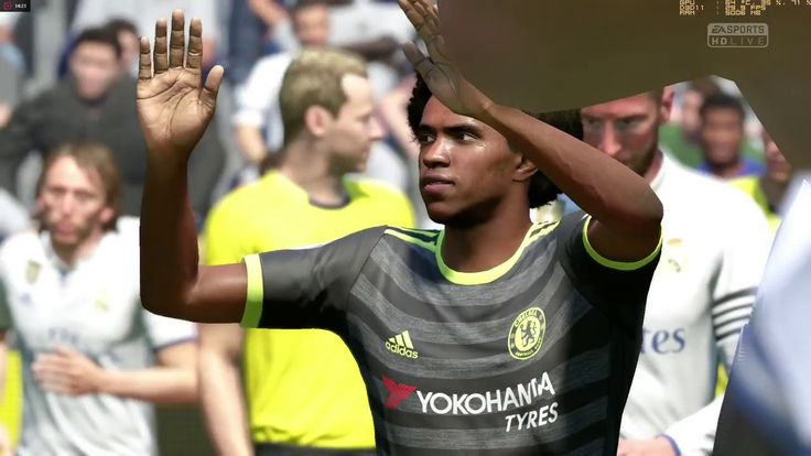 Fifa 17 online season Division 4 Match (Real madrid vs Chelsea)