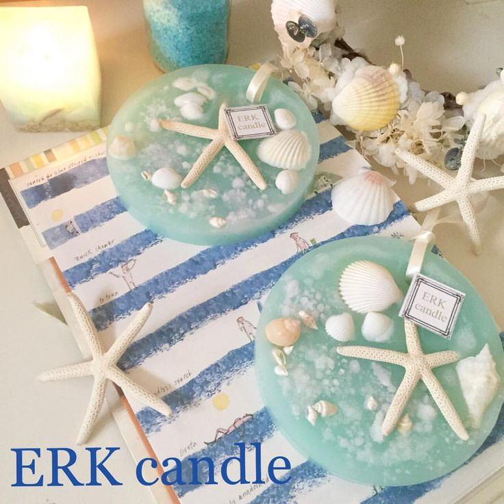 シンプルマリンワックスバー(o^^o) どんなマリンディスプレーにも合いそう♡ 香りも人気のプルメリア♡夏ー‼︎まだ?笑 #candle #aroma #キャンドル #アロマ #マリン #ワックスバー - erkcandle