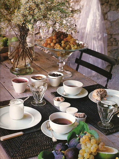 So utterly French.  Served at a historic maison in Provence.  Photo from Cote Sud Magazine.
