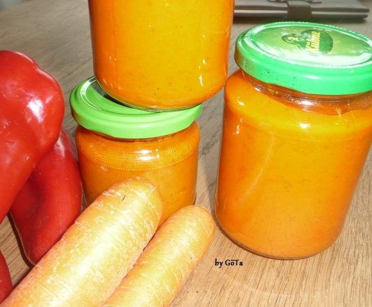 Rezept Paprikasoße - HISTAMINARM - für Pasta, Pizza usw. von Jagga - Rezept der Kategorie Saucen/Dips/Brotaufstriche