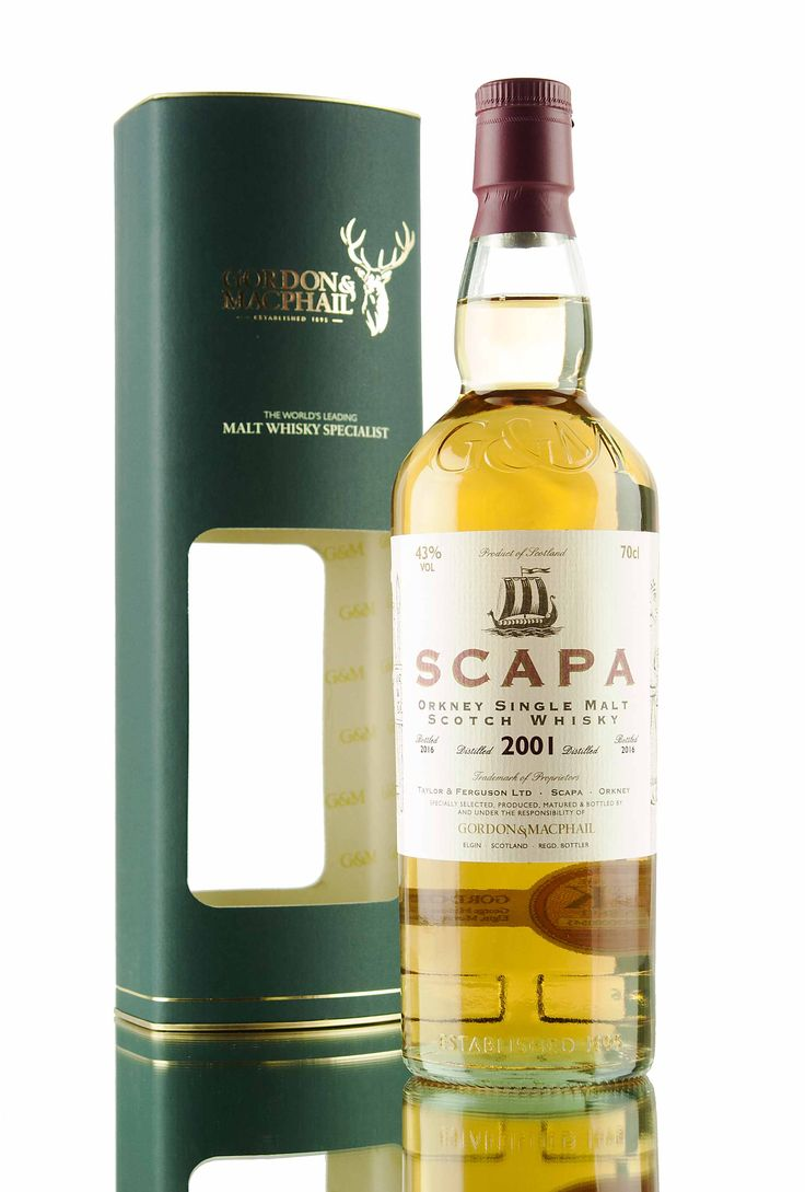 A 2001 vintage Scapa, filled from cask in 2016 by Independent bottlers Gordon & MacPhail.