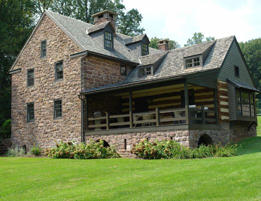 stone & log ♥: Cabins Houses, Book, Stones Houses, Castle Cottage Houses, Log Houses, Houses Barns, Logs Houses, Stone Houses