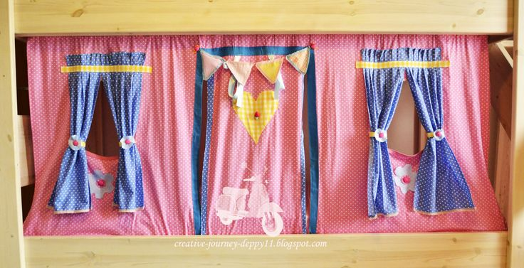 handmade curtains for kid  bed!!