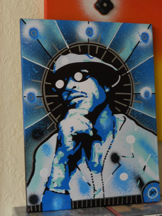 Hey, I found this really awesome Etsy listing at https://www.etsy.com/listing/120408409/painting-of-hip-hop-artist-guruicon-guru