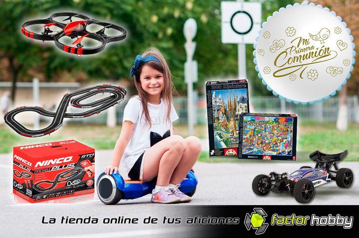 OFERTAS 2017 #PrimeraComunión en Factorhobby: https://www.factorhobby.com/ofertas.html Pincha y descubre todos los juguetes radiocontrol, puzzles, slot y más hobby a precios increibles.