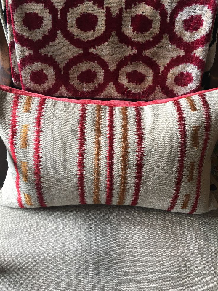 Scatter cushions - the finishing touch? William Yeoward examples in the showroom