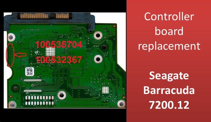 How to repair Seagate HDD by swap PCB board: 100535704