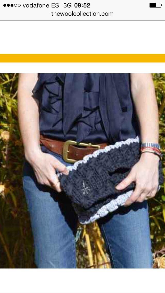 Evening bag. #bag #bolso #tejer #knit #trapillo