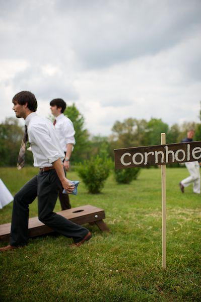 More wedding cornhole for a backyard BBQ wedding. Really fun! Wish it had a less ugly-sounding name, though, haha.
