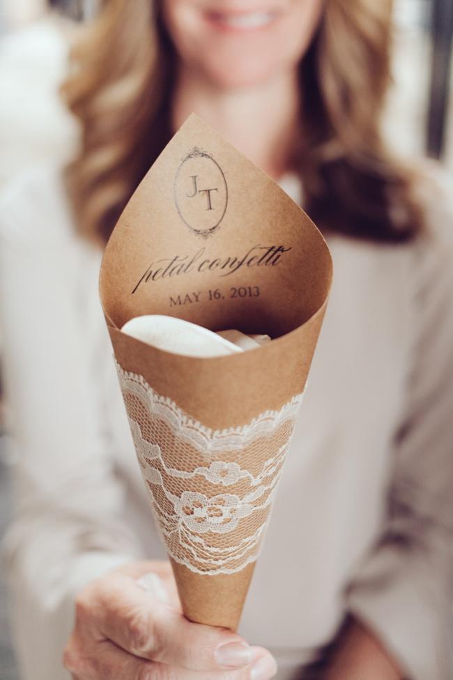 Rose petal confetti; Joel Bedford Photography; Tuscany Wedding;