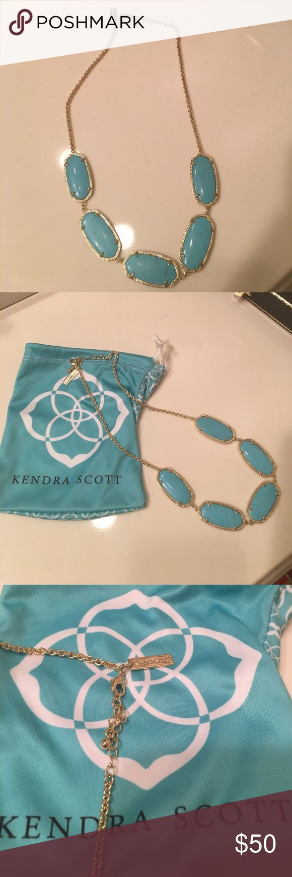 Turquoise Kendra Scott necklace! Turquoise Kendra Scott necklace for sale! Very gently used. Willing to negotiate! Also have matching earrings (not yet listed) if interested. Kendra Scott Jewelry Necklaces