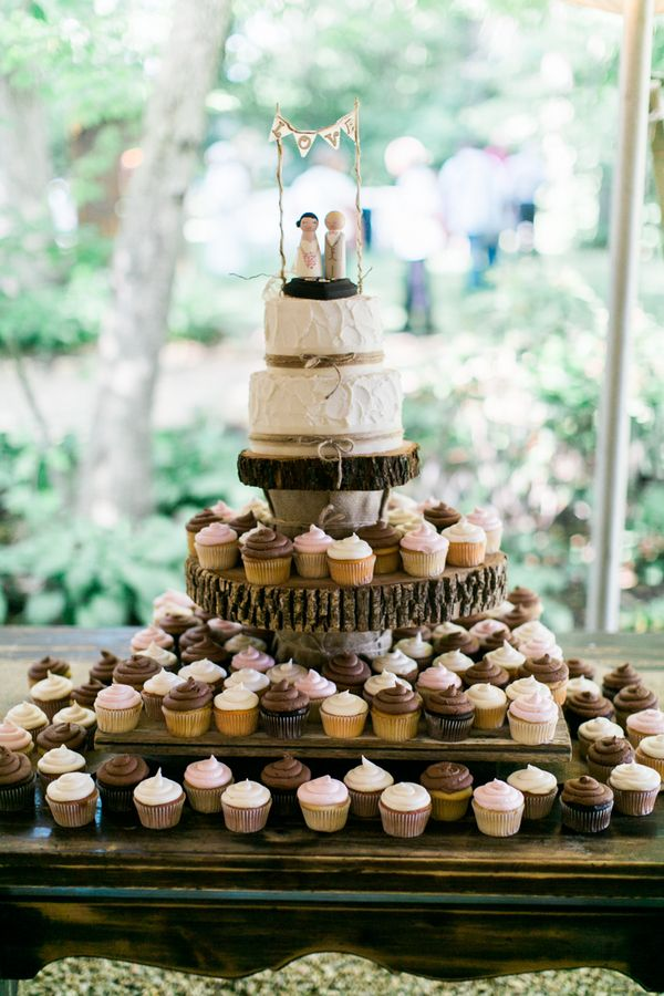 Adore this wedding #cake! Andrew & Erin Photography / See more on http://www.rusticfolkweddings.com/2014/09/15/christian-southern-farm-wedding/