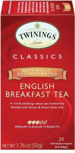 Twinings English Breakfast Black Decaffeinated Tea, many times a day
