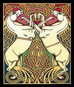 Horse painting by Courtney Davis. He is such a talanted Celtic artist living today