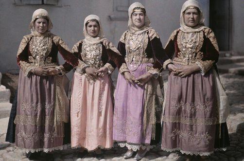 Women dressed in Albanian style perform Megara's Easter Dance MAYNARD OWEN WILLIAMS/National Geographic Creative